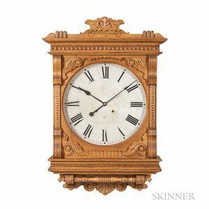 "Oak Ansonia ""Foyer No. 1"" Gallery Clock"