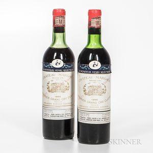 Chateau Margaux 1966, 2 bottles