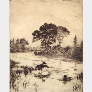 Frank Weston Benson  (American, 1862-1951)      The River
