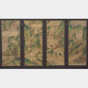 Sold for: $831,000 - Folding Screen