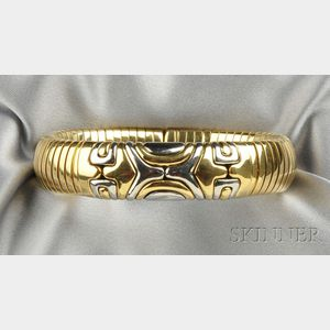 """18kt Gold and Stainless Steel """"Alveare"""" Bracelet, Bulgari"""