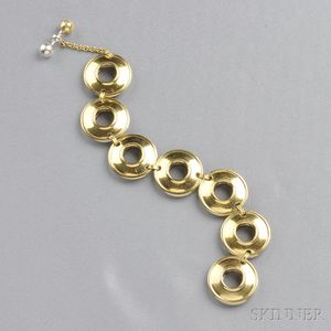 18kt Gold and Sterling Silver Reversible Bracelet, Paloma Picasso, Tiffany & Co.