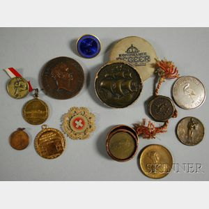 Small Group of Mostly European Medals and Badges