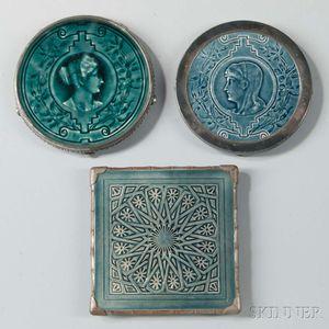 Three J. & J.G. Low Pottery Trivets