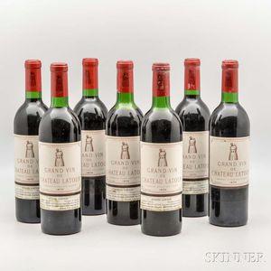Chateau Latour 1970, 7 bottles