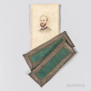 Pair of 2nd Lieutenant of Rifles Shoulder Boards and a Carte-de-visite