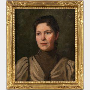 Boston School, 19th/20th Century      Portrait of Dora Dall Breding