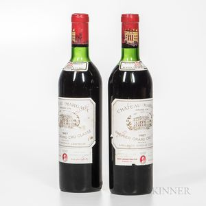 Chateau Margaux 1967, 2 bottles
