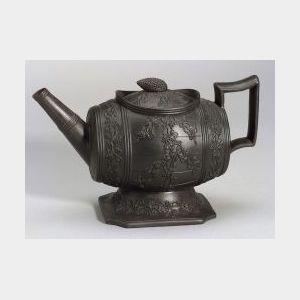 Black Basalt Wine Cask Teapot and Cover