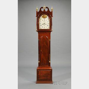Federal Mahogany Tall Clock by Samuel Mulliken