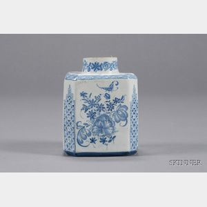 Delft Blue and White Tin Glazed Tea Canister