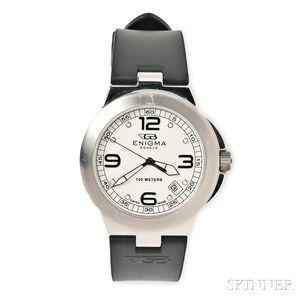 "Stainless Steel ""Enigma"" Wristwatch, Gianni Bulgari"
