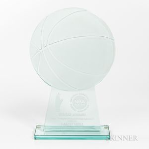 1986-87 NBA HA-LO Free Throw Percentage Leader Award Presented to Larry Bird