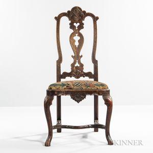 George I Walnut Side Chair