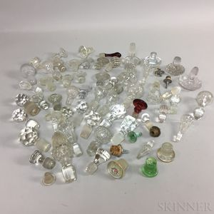 Extensive Group of Glass Stoppers