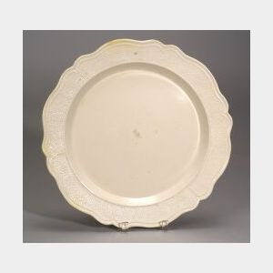 Staffordshire White Salt-Glazed Stoneware Charger