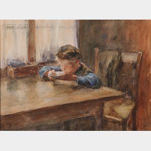 Jacob Simon Hendrik Kever (Dutch, 1854-1922)      The Bowl of Soup