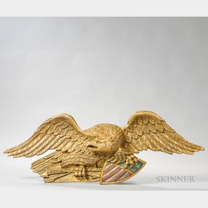 Gilt and Polychrome Zinc Eagle
