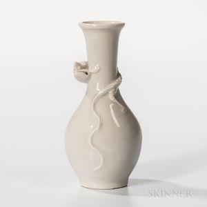 Small White-glazed Bottle Vase