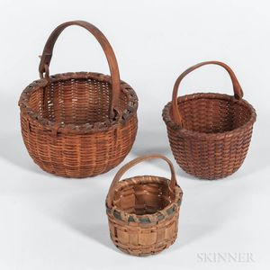 Three Small Baskets