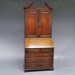 Georgian Oak Secretary/Bookcase
