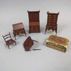Five Pieces of Colonial-style Doll Furniture