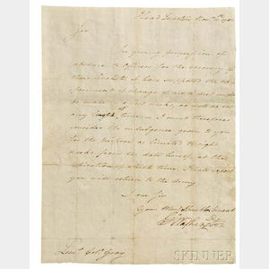 Washington, George (1732-1799) Letter Signed, Granting a Leave of Absence, Newburgh, New York, 11 November 1782.
