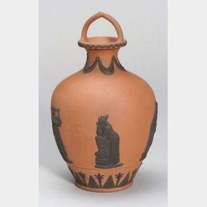 Wedgwood Rosso Antico Bottle Shaped Vase