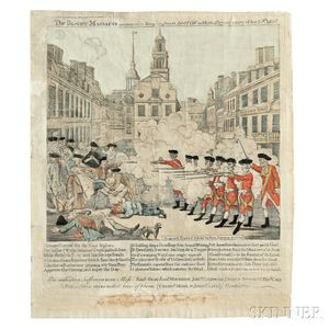 Paul Revere (American, 1735-1818) The Bloody Massacre perpetrated in King Street, BOSTON, on March 5th 1770, by a Party of the 29th REG