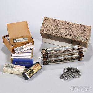 M. Hohner Tremolo Sextet Harmonica in Original Box, c. 1940