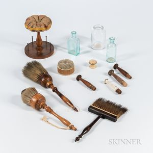 Eight Shaker Household Items and a Bag of Pegs
