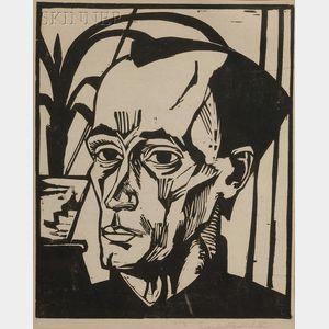 Erich Heckel (German, 1883-1970)      Bildnis E. H.