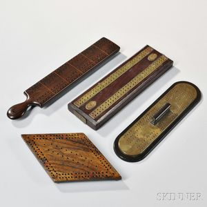 Four Wood Cribbage Boards