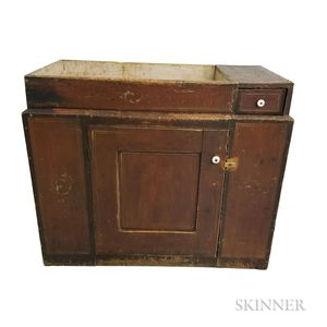 Paint-decorated Pine Dry Sink