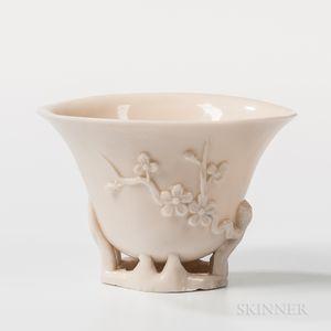 Dehua-style White Porcelain Libation Cup