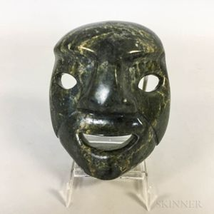 Inuit Carved Soapstone Mask