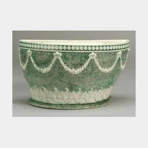 Wedgwood D-shaped Porphyry Decorated White Terra-cotta Bough Pot