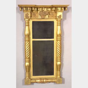 Classical Gilt Gesso and Wood Carved Mirror