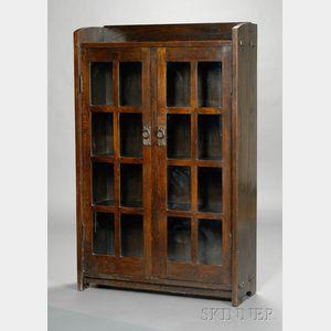 Gustav Stickley Double-Door Bookcase