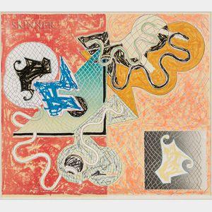 Frank Stella (American, b. 1936)      Shards IV