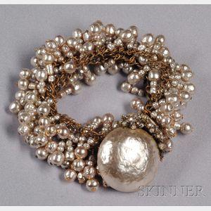 Vintage Imitation Baroque Pearl Bracelet, Miriam Haskell