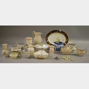 Approximately Twenty-one Pieces of Miscellaneous Decorated Porcelain and Ceramic   Tableware
