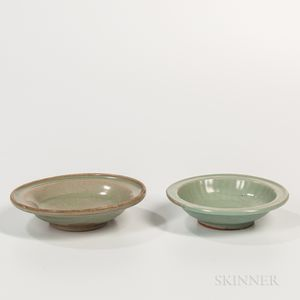 Two Celadon-glazed Dishes