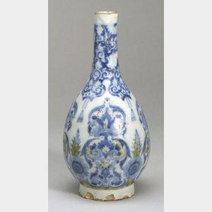 Delft Ware Bottle-shaped Vase