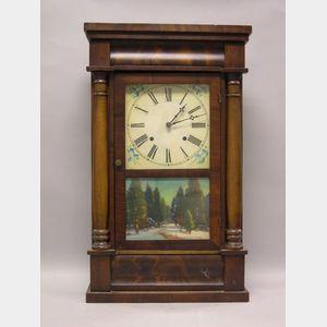 Chauncey Jerome Mahogany Split Baluster Mantel Clock