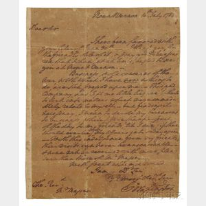 Washington, George (1732-1799) Autograph Letter Signed, Mount Vernon, 10 July 1784.