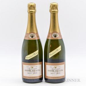 Godme Rose Brut Grand Cru Champagne des Villages, 2 bottles