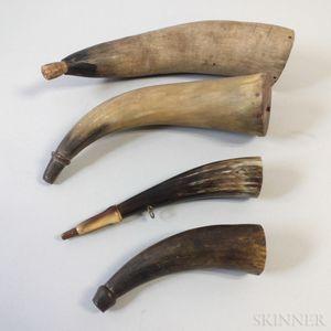 Four Powder Horns