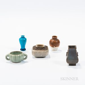 Five Miniature Ceramic Items