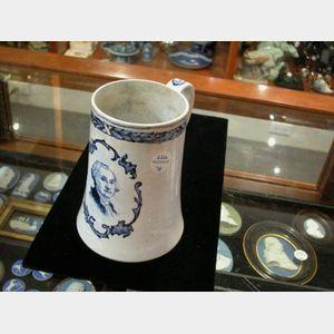 Staffordshire Pearlware Mug Depicting George Washington, England, 19th century,